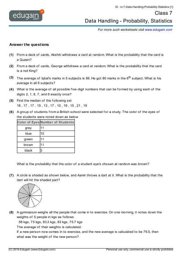 Maths Worksheets For Class 8 Cbse maths worksheets for grade 8 – Maths Worksheet for Class 8