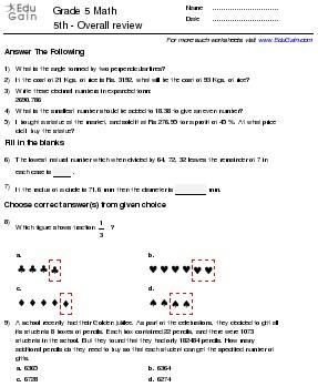 Printable Worksheet Take online test Customize Test